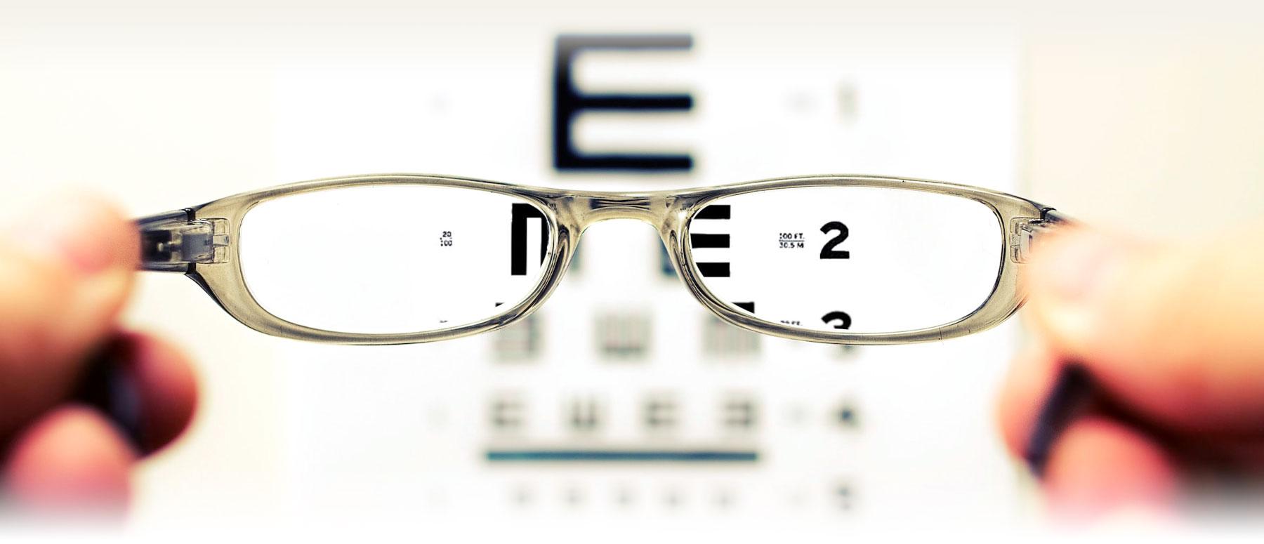 Optiker glasögon